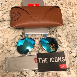 Rayban sunglasses 112/17 58mm flash blue